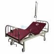 Кровать б/у медицинская c механическим приводом F-8 с  новым матрасом.