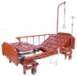 Кровать медицинская для интенсивной терапии с электроприводом DB-6 MM-166H (дерево)